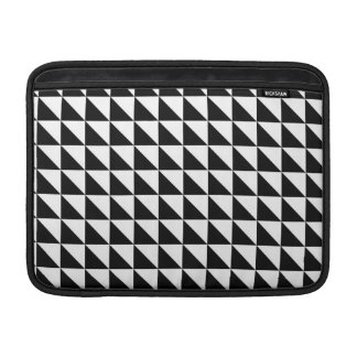 Crisp Black and White Triangles Sleeve For MacBook Air