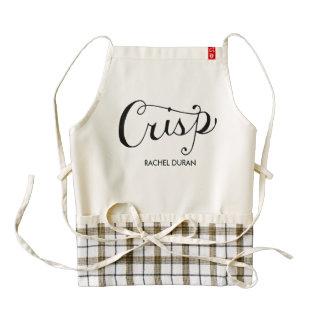 crisp calligraphy apron