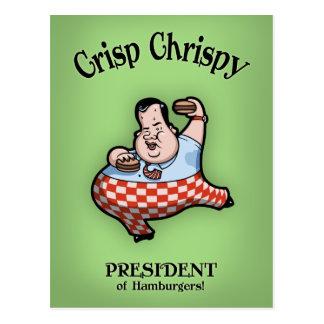 Crisp Chrispy Prez of Burgers Postcard
