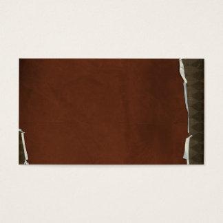 crisp fall air  leaf paper02 RICH COFFEE BROWN  TE Business Card