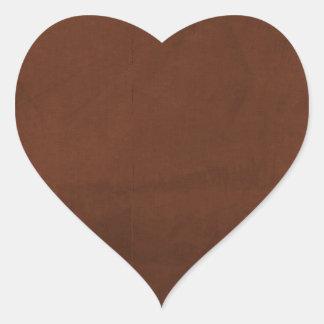 crisp fall air  leaf paper02 RICH COFFEE BROWN  TE Heart Sticker