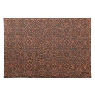 crisp-fall-air-paper14 DECORATIVE ORNAMENTAL BROWN Place Mat