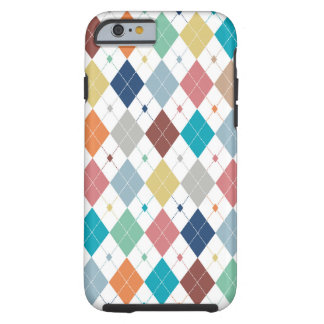 Crisp Modern Argyle Tough iPhone 6 Case