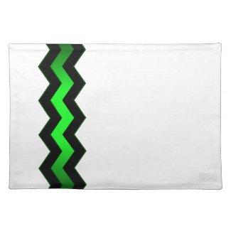 Crisp Modern Green Accent Cloth Place Mat