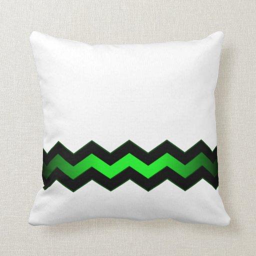 Modern Green Pillow : Crisp Modern Green Accent Throw Pillow Zazzle