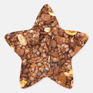 Crisp Muesli Texture Star Sticker