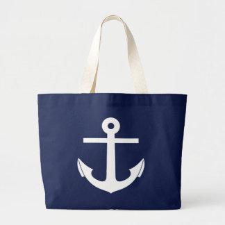 Crisp Nautical Anchor Jumbo Beach Bag