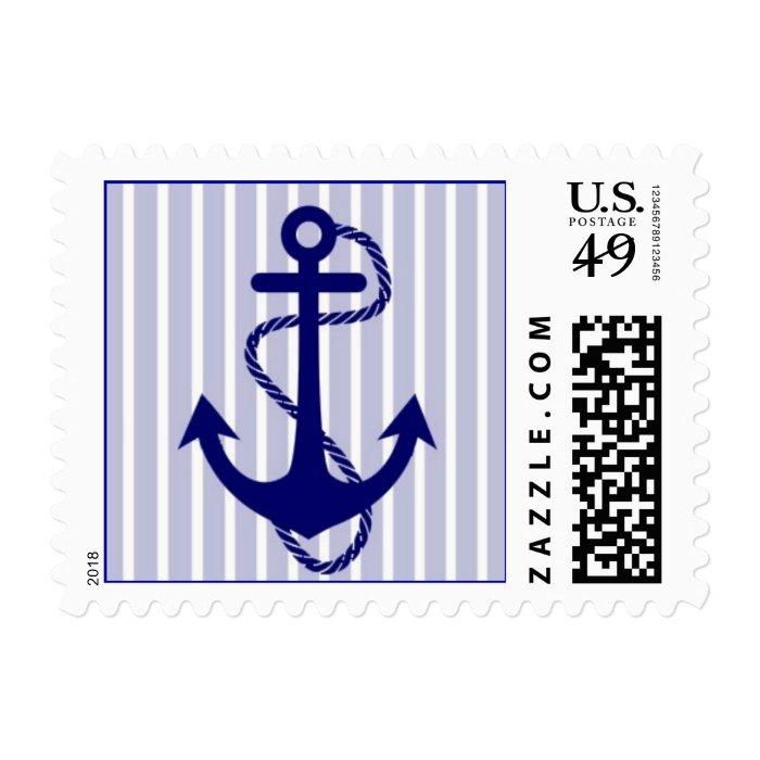 Crisp Nautical Anchor Postage Stamp