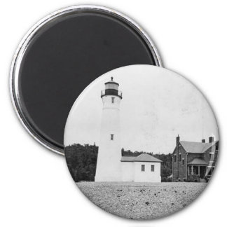 Crisp Point Lighthouse 2 Inch Round Magnet