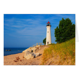 Crisp Point Lighthouse Card