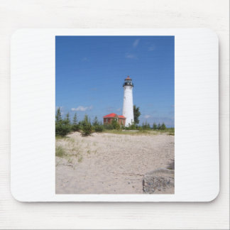 Crisp Point Lighthouse Mouse Pad
