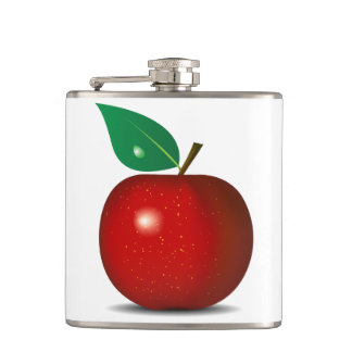 Crisp Red Apple Flask