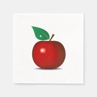 Crisp Red Apple Paper Napkins