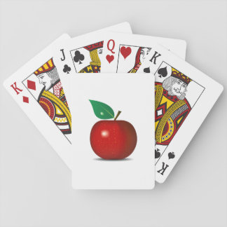 Crisp Red Apple Playing Cards