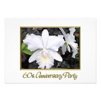 Crisp White Orchids Anniversary Party 60 Invites