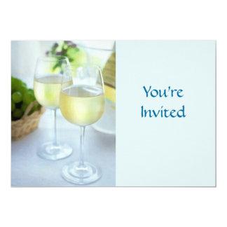 "Crisp Whites 5"" X 7"" Invitation Card"