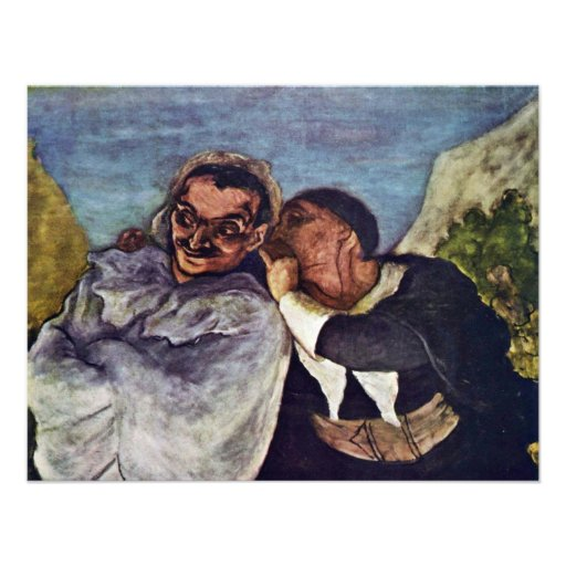 Crispin And Scapin By Daumier Honoré Custom Announcements