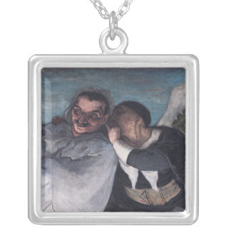 Crispin and Scapin Silver Plated Necklace