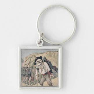 Crispi's Defeat caricature Keychain