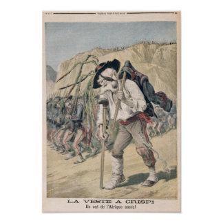 Crispi's Defeat caricature Poster