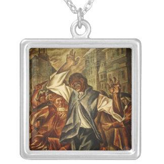 Crispus Attucks by Herschel Levit Silver Plated Necklace