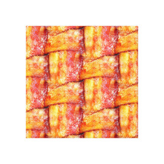 Crispy Bacon Weave Pattern Gallery Wrapped Canvas