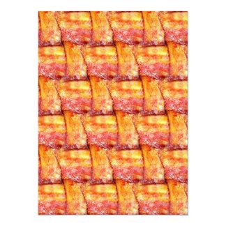 Crispy Bacon Weave Pattern Card