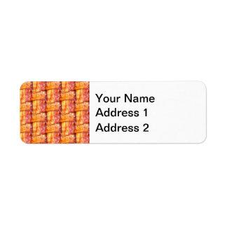 Crispy Bacon Weave Pattern Return Address Label