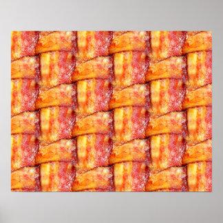 Crispy Bacon Weave Pattern Poster