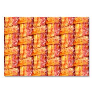 Crispy Bacon Weave Pattern Table Card