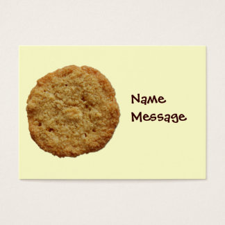 Crispy Baked Cookie Bookmark Name Tag Card