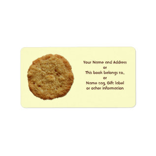 Crispy Baked Cookie Name Gift Tag Bookplate at Zazzle