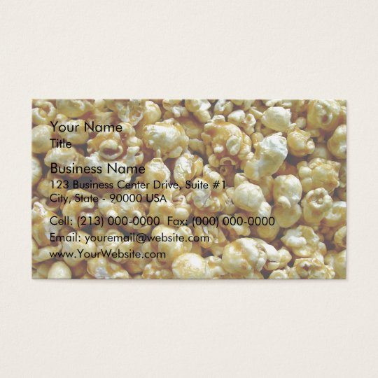 Crispy Candied popcorn Business Card