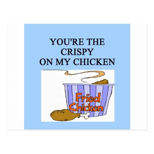crispy chicken lovers postcards