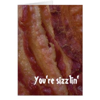 Crispy Fried Bacon Valentine's Day Card