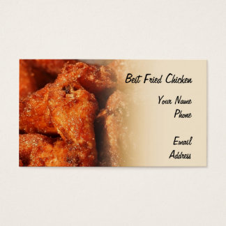 Crispy Fried Chicken Business Card