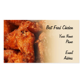Crispy Fried Chicken Business Card Templates