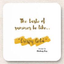 Crispy Gold Beverage Coaster