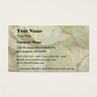 Crispy potato chips business card
