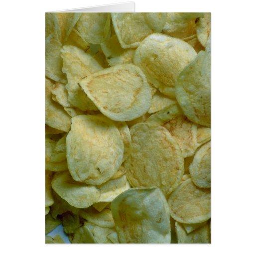 Crispy potato chips cards