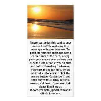 Crispy Sun Reflection at Sunset Card