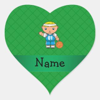 Criss conocidos personalizados del verde del colcomanias corazon personalizadas