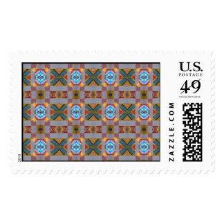 criss cross abstract postage stamp