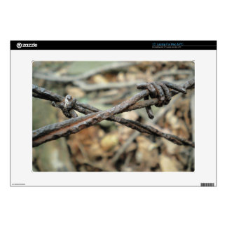 "Criss-Cross Barbed Wire 15"" Laptop Decal"