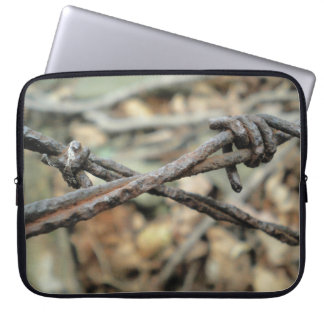 Criss-Cross Barbed Wire Laptop Sleeve