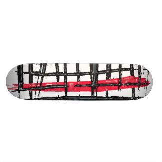 Criss Cross Black & Red Skateboard Deck