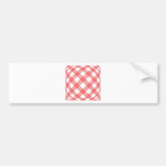 Criss cross gingham background car bumper sticker