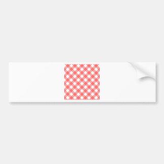 Criss cross gingham pattern car bumper sticker