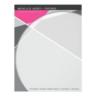 Criss Cross   Gray + Pink Modern Letterhead