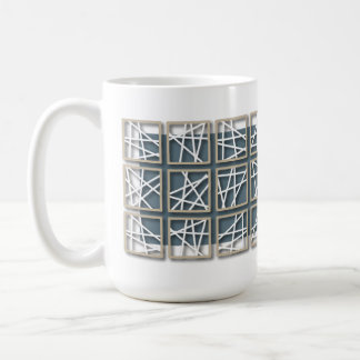 Criss Cross Pattern Blue Mug